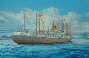ms. Montferland van de Koninklijke Hollandsche Lloyd voor de kust van Brazilie