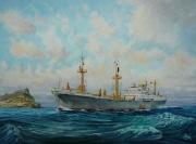 Alamak, rederij Nievelt Goudriaan, passeert Gibraltar