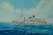 Engels vracht en passagiersschip City of York van de Ellerman Lines